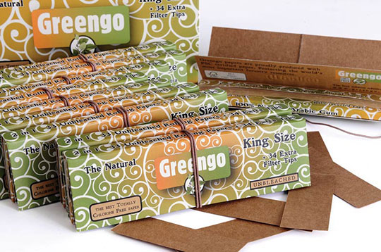 GREENGO UNBLEACHED 2 IN 1 KING SIZE SLIM 33S
